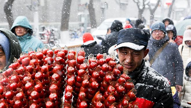 北京迎来降雪